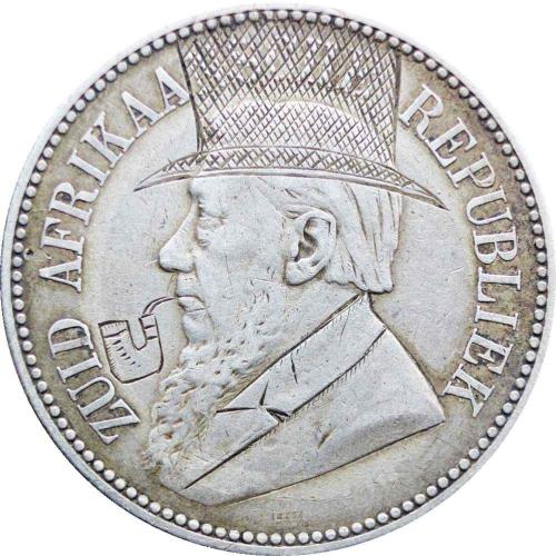 1896 ZAR South Africa Paul Kruger silver 2 and half shilling coin Anglo  Boer War Trench Art Pipe & Hat Engraved